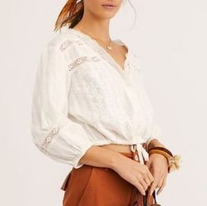 Free People Follow Your Heart peasant top ivory L